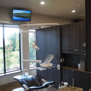 Dental Operatory with Ceiling TV