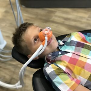 Young Patient on Nitrous Oxide (Happy Gas)